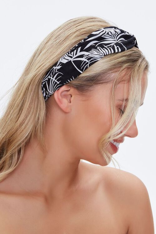 Tropical Print Twisted Headwrap, image 2