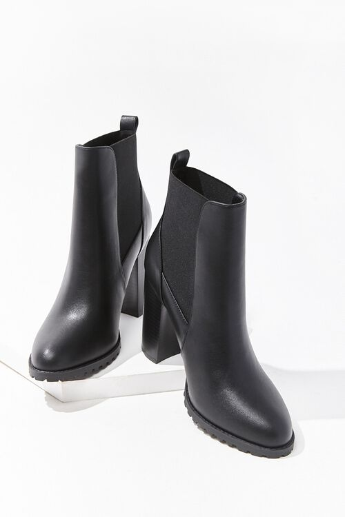 Faux Leather Ankle Boots, image 3