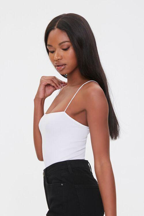 Straight-Neck Cami Thong Bodysuit, image 2