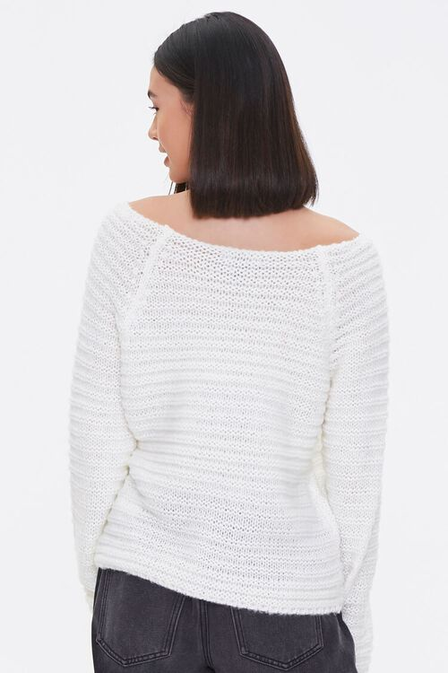 Open-Knit Boat Neck Sweater, image 3