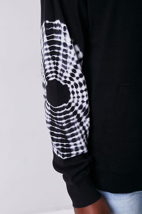 BLACK/WHITE Tie-Dye Drawstring Hoodie, image 5