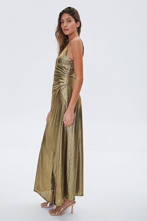 GOLD Metallic Cami Maxi Dress, image 2