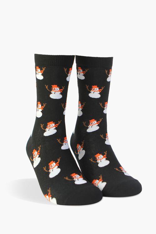 Men Snowman Crew Socks, image 1