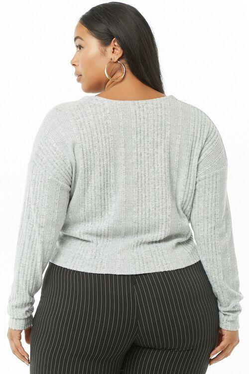 Plus Size Brushed Twist-Hem Top, image 3