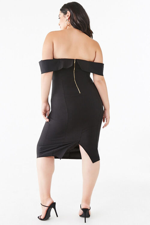 Plus Size Off-the-Shoulder Bodycon Dress, image 3