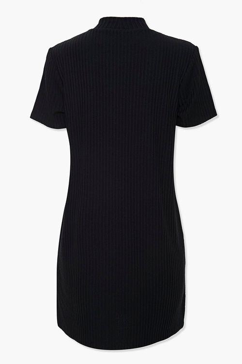 Ribbed Mock Neck T-Shirt Dress, image 3