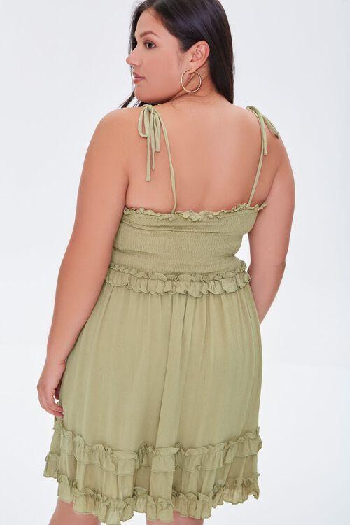 OLIVE Plus Size Ruffle-Trim Cami Dress, image 3