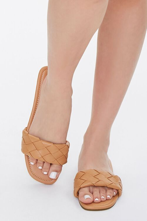 Basketwoven Faux Leather Sandals, image 4