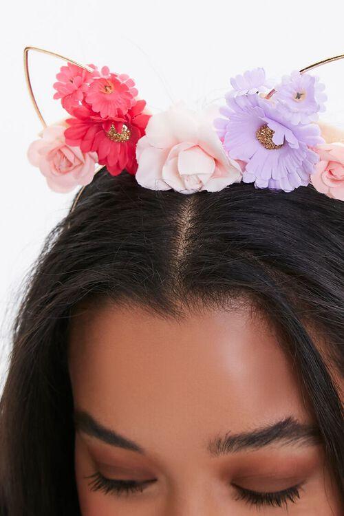 Floral Cat Ear Headband, image 3