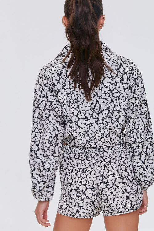 BLACK/WHITE Active Floral Cropped Anorak, image 3