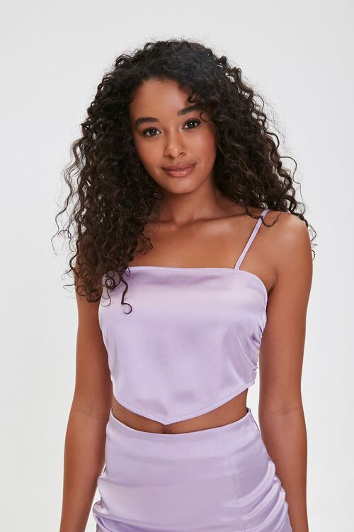 Satin Cropped Scarf Top, image 2
