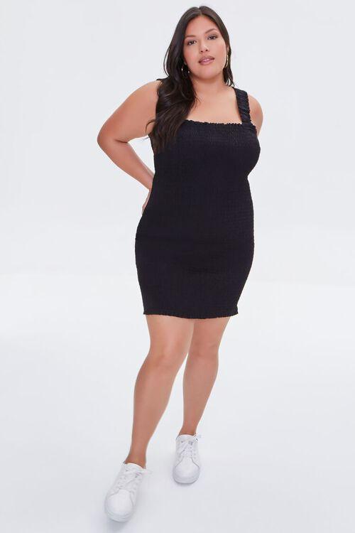 Plus Size Smocked Bodycon Dress, image 4