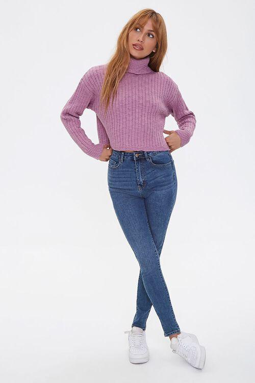 LILAC Ribbed Turtleneck Sweater, image 4