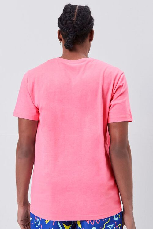 DUSTY PINK Basic Organically Grown Cotton V-Neck Tee, image 3