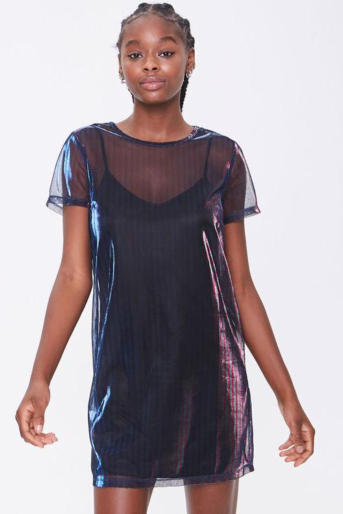 Metallic T-Shirt Dress, image 1