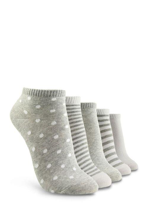 Patterned Ankle Socks Set - 5 Pack, image 2