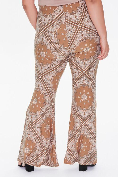 CAMEL/MULTI Plus Size Ornate Flare Jordyn Pants, image 4