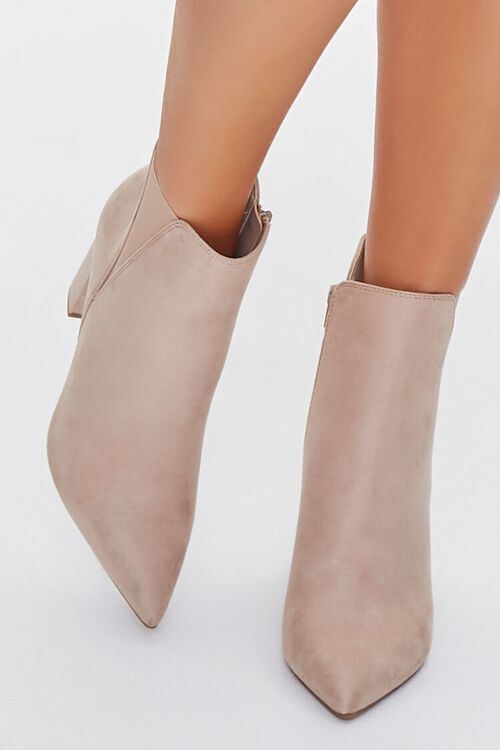 Faux Suede Pointed Toe Booties, image 4
