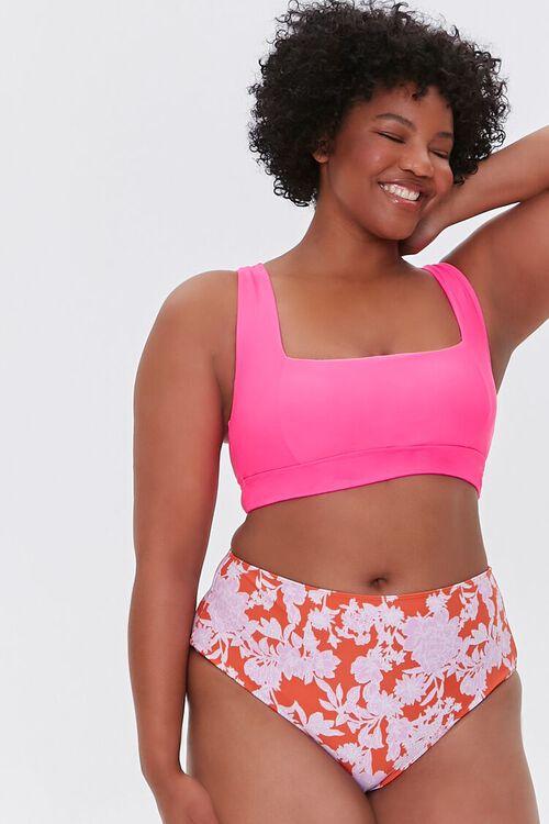 Plus Size Floral Print Bikini Bottoms, image 5
