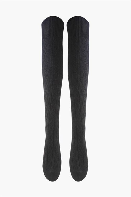 Over-the-Knee Cable-Knit Socks, image 1