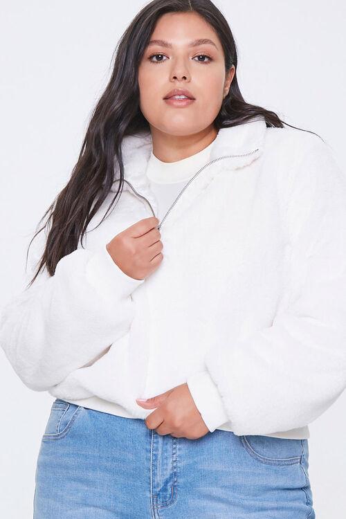 Plus Size Plush Half-Zip Pullover, image 1