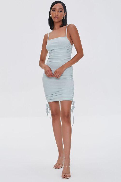SAGE Ruched Drawstring Mini Dress, image 4