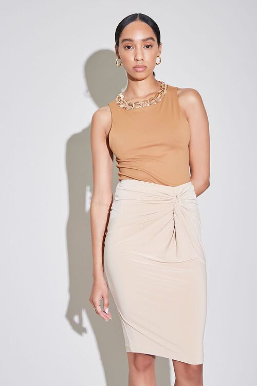 Knotted Pencil Skirt, image 1
