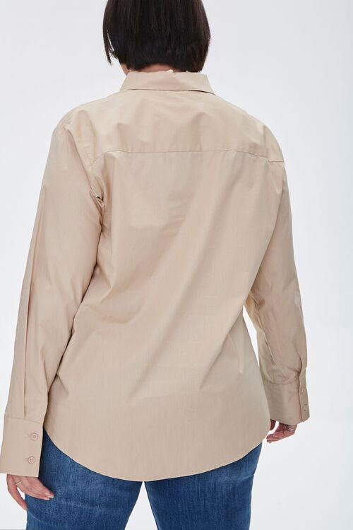 Plus Size Button-Up Shirt, image 3