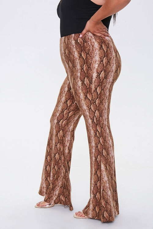 Plus Size Snake Print Jordyn Pants, image 3