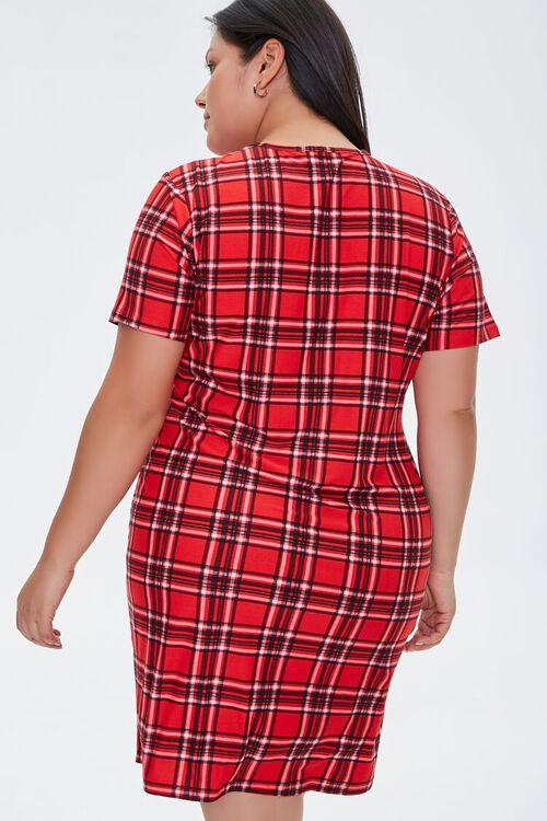 Plus Size Plaid Mini Dress, image 3