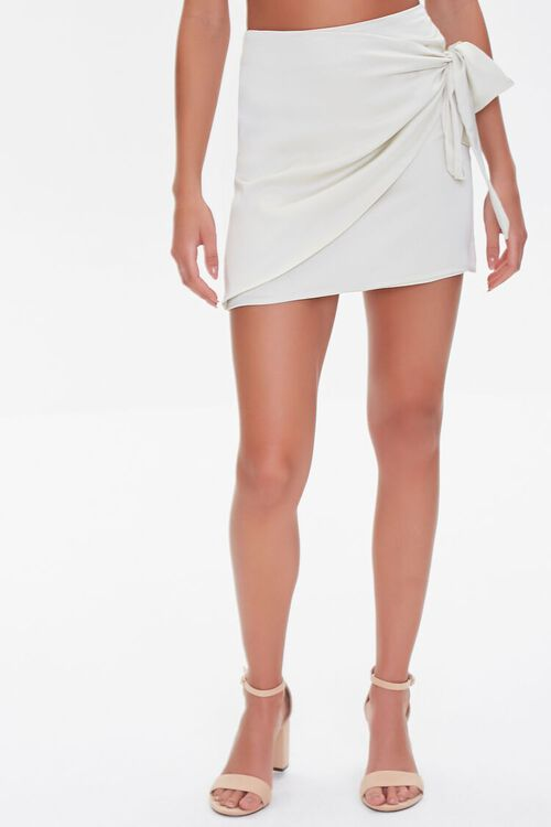 Knotted Wrap Mini Skirt, image 2