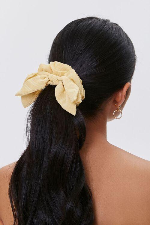 Textured Bow Scrunchie, image 1