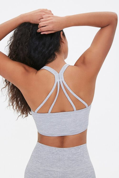 Ribbed Caged Sports Bra, image 1
