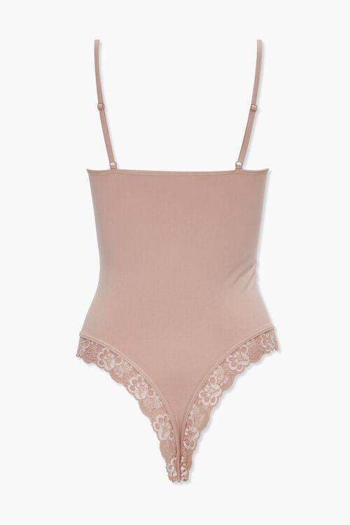 SAND Lace-Trim Lingerie Bodysuit, image 3