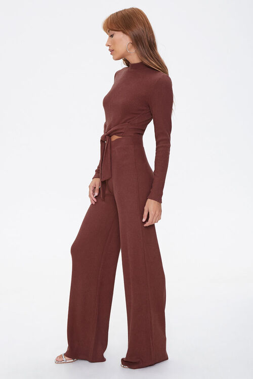 Crop Top & Flare Pants Set, image 2