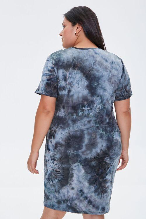 Plus Size Tie-Dye T-Shirt Dress, image 4