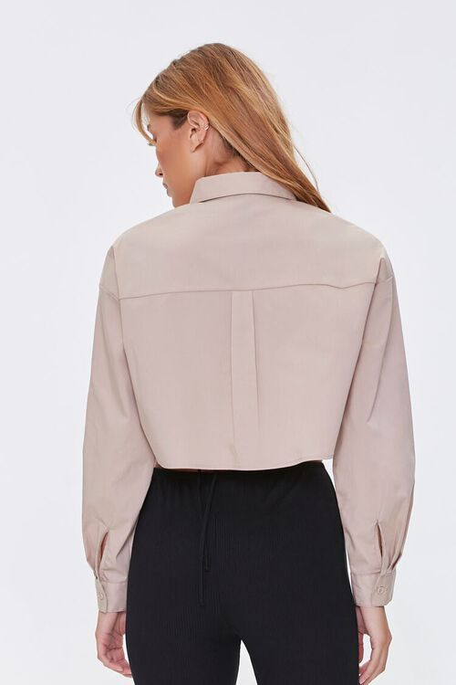 Cropped Button-Front Shirt, image 3