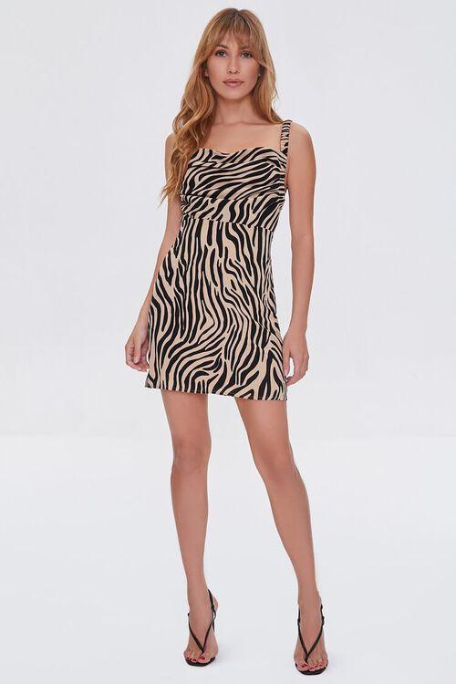 Tiger Print Cutout Dress, image 4