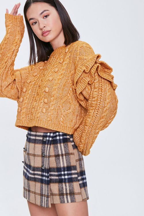 Cable Knit Ruffle Sweater, image 1