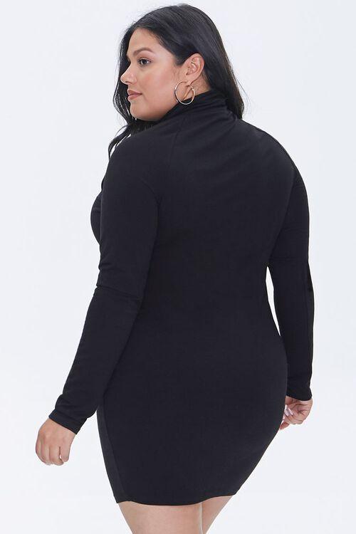 Plus Size Turtleneck Mini Dress, image 3