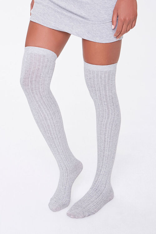 Ribbed Over-the-Knee Socks, image 1