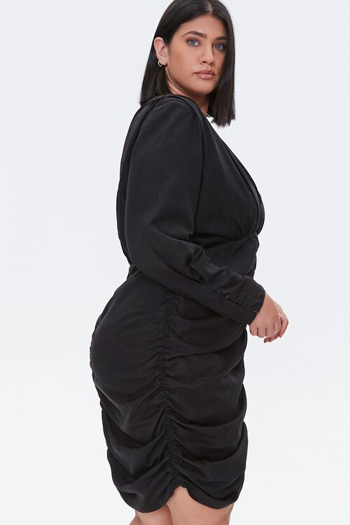 Plus Size Ruched Mini Dress, image 2