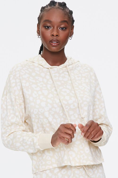 French Terry Leopard Hoodie, image 1