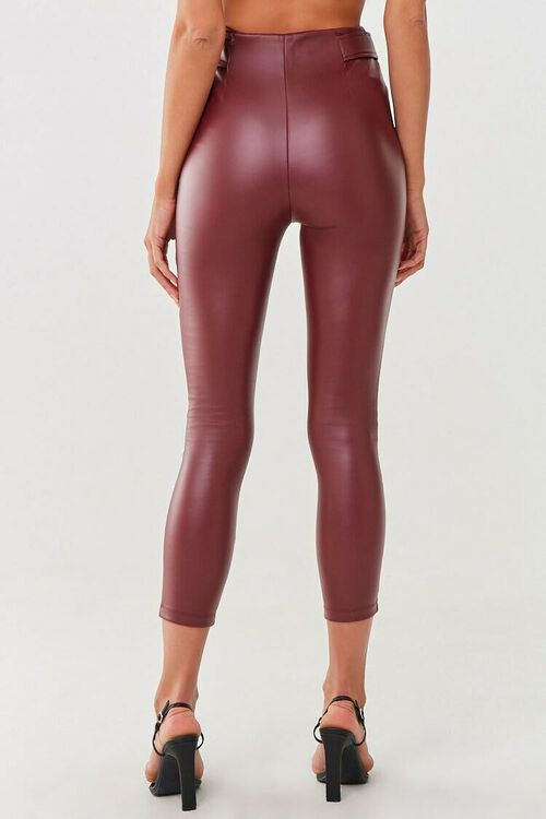 Faux Leather Ankle Pants, image 4