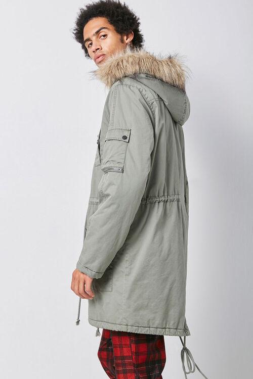 Faux Fur-Trim Longline Parka, image 3