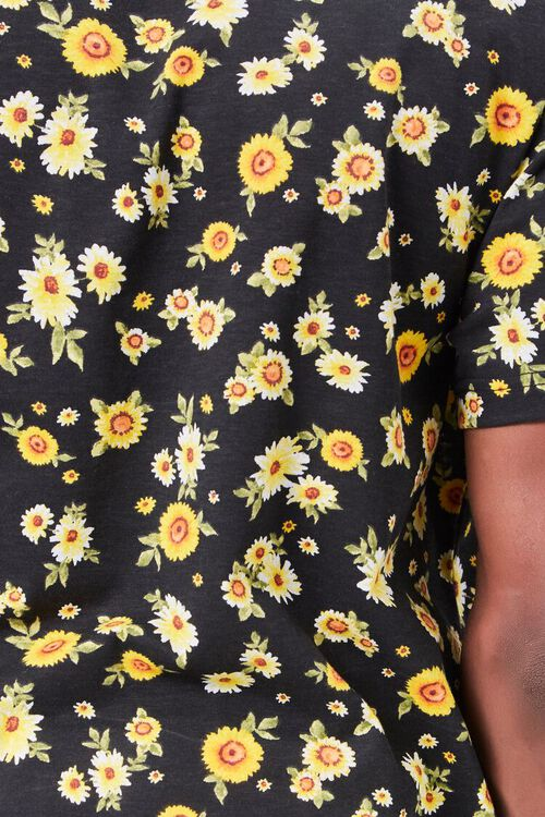 BLACK/MULTI Daisy Print Tee, image 5