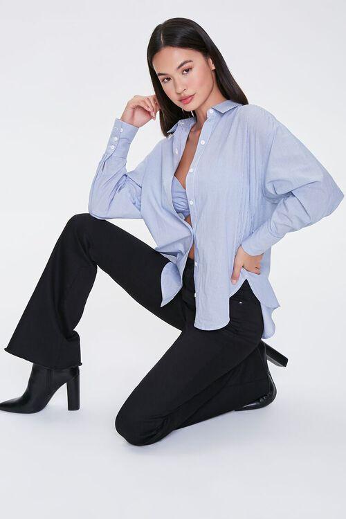 Pinstriped Bralette & Shirt Set, image 7
