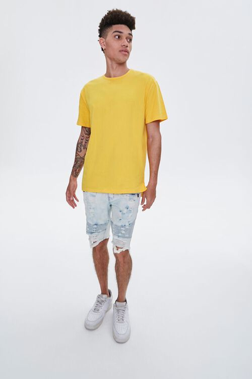Distressed Denim Moto Shorts, image 5