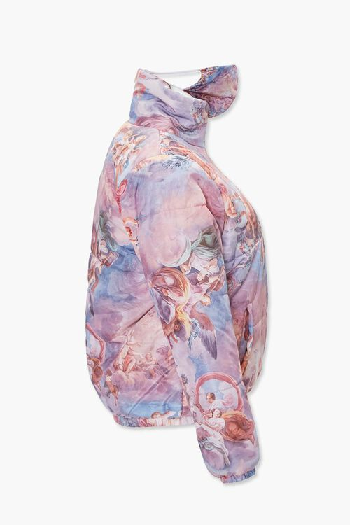 ROSE/MULTI Plus Size Angel Jacket & Face Mask Set, image 2