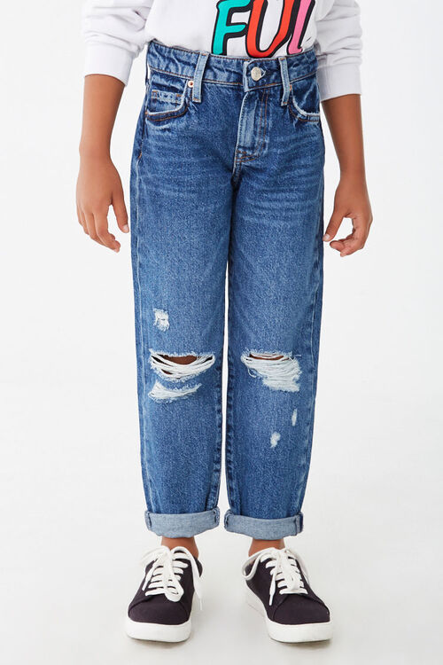 Girls Distressed Jeans (Kids), image 2